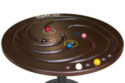 Spiraal biljart XXL gekleurde ballen 112 cm