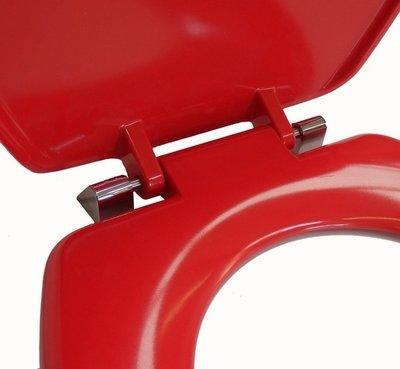 Toiletbril - Goed zichtbaar - kleur rood