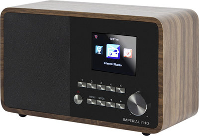 Radio - Inclusief Radio Remember Jaarabonnement - Imperial i110 wifi internetradio met USB, hout