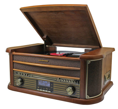 Radio - Nostalgisch muziek center - Soundmaster NR545 (DAB+, Radio, CD, Bluetooth, Platen en Cassette))