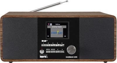 Radio - Inclusief Radio Remember Jaarabonnement - Imperial DABMAN i200 stereo hybride internetradio met DAB+ en FM, walnoot