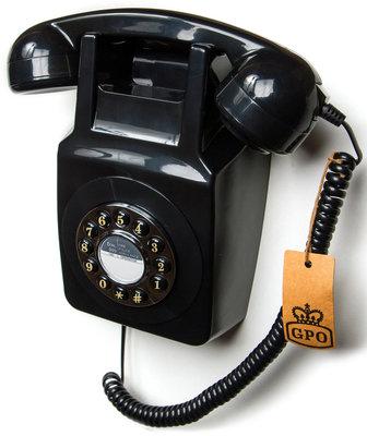 Seniorentelefoon - Klassiek jaren '70 ontwerp - GPO 746 Muur (Druktoetsen)