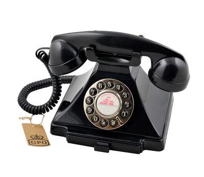 Seniorentelefoon - Klassiek jaren '20 ontwerp - GPO 1929 (Druktoetsen)