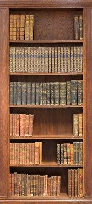 Deursticker boekenkast lichtbruin