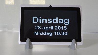 'DayClock' - Kalenderklok - Digitaal - Op afstand te beheren.