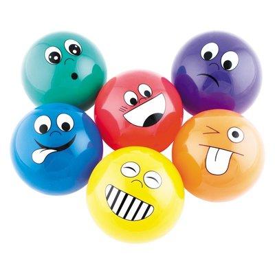 Ballen met gezichtsuitdrukkingen (set van 6)