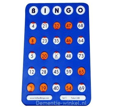 Bingo schuifplank 1-75