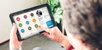 Compaan Connect - speciaal ontwikkeld voor mensen die een steuntje in de rug nodig hebben bij het gebruik van een tablet.