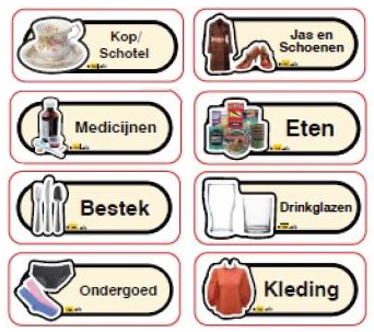 Kast- en ladelabel en kameraanduidingen stickerboek
