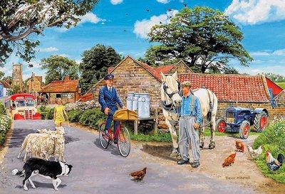 Puzzel - 100 extra grote puzzelstukken - De boerderij van Olive