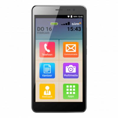 Seniorentelefoon - Simphone 3 senioren Smartphone - Super eenvoudig en veilig