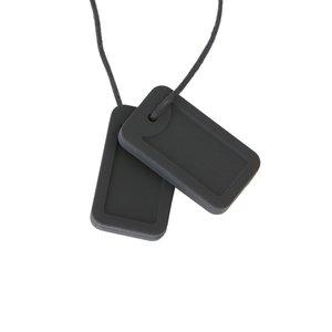 Kauwhanger - Zwart. Veilig alternatief voor kauwen op vingers, knokkels, pennen, etc. Ook goed voor verbeteren van mondmotoriek