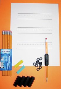 Poltlood verzwaringsset - incl. 5 gewichten en 12 potloden.