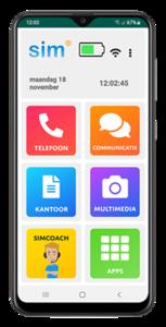 Seniorentelefoon - Simphone 4 senioren Smartphone - Super eenvoudig en veilig