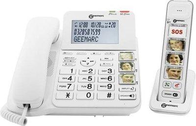 Seniorentelefoon - Geemarc DECT295-1 - Single DECT en vaste telefoon met foto toetsen