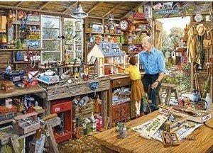 Gibsons Puzzel - 40 extra grote puzzelstukken - Opa's werkplaats