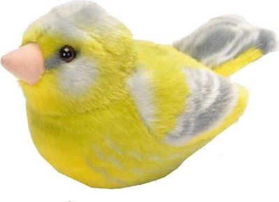 Pluche vogel met geluid