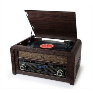 Radio - Nostalgisch muziek center - Muse MT-115DAB (DAB+, FM, CD, Platen en Bluetooth)