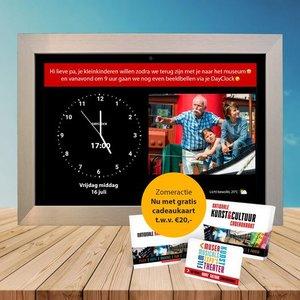 DayClock - Tijdelijk bij aanschaf de Nationale Kunst&Cultuur cadeaukaart t.w.v. € 20,- cadeau