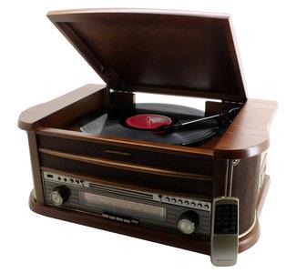 Radio - Nostalgisch muziek center - Soundmaster NR540 (DAB+, Radio, CD, Bluetooth, Platen en Cassette))