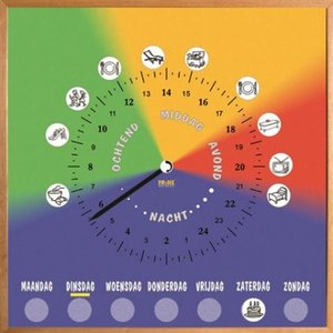24 uur Dagritmeklok - Met dagaanduiding
