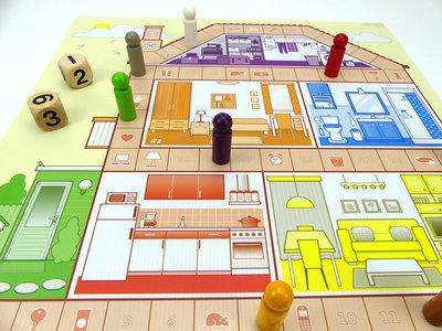 Huis, Tuin en Keukenspel - spelbord