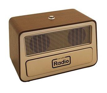 Radio - 1 bedieningsknop Retro met klep die bedieningsknoppen afdekt