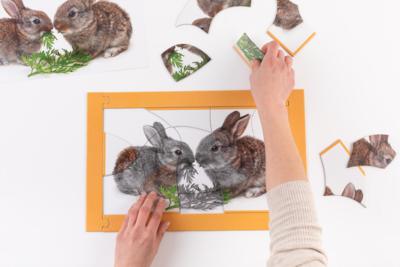 Puzzel - Kleine konijnen